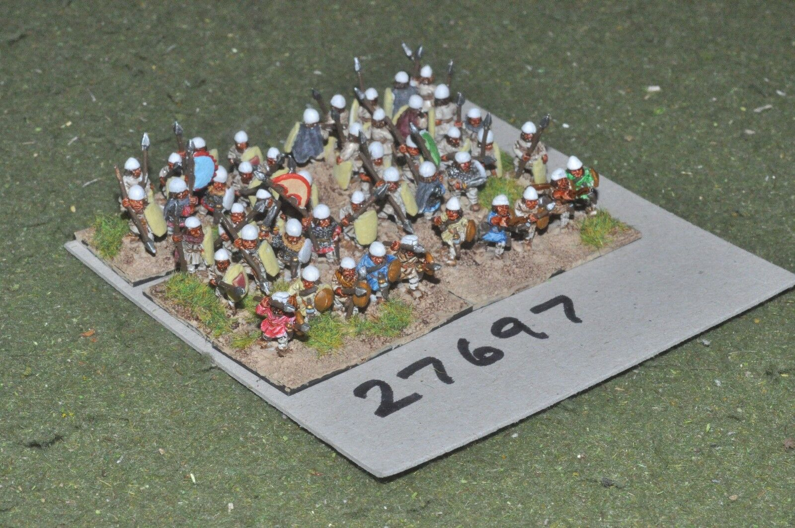 10mm roman era   sassanid - levy spearmen 46 figures - inf (27697)
