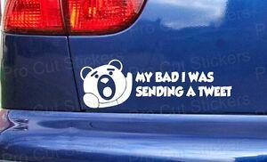 200mm-20cm-Ted-My-Bad-Tweet-Novelty-Funny-Rude-Movie-Car-Sticker-Decal-Film