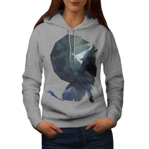 Wild Casual Hooded Sweatshirt Wellcoda Wolf Shapes Art Fashion Womens Hoodie