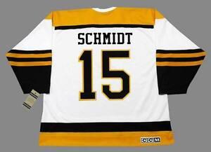 9de8065b MILT SCHMIDT Boston Bruins 1950's CCM Vintage Throwback Away NHL ...