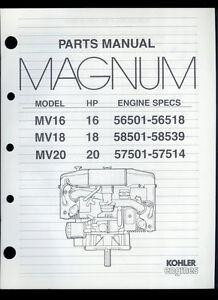 rare original factory kohler magnum mv16 18 20 16 18 20hp engine image is loading rare original factory kohler magnum mv16 18 20