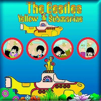 Beatles Fridge Magnet Calamita Yellow Submarine Official Merchandise
