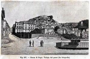 Rocca-di-Papa-Panorama-Castelli-Romani-Roma-Stampa-Antica-Passepartout-1894