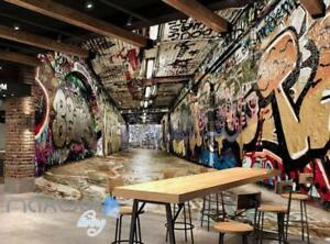 Image Is Loading 3D Graffiti Underground Tunnel Stair Wall Murals Wallpaper