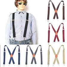"""Men/'s Big and Tall X-Back Clip Suspenders 2/"""" Wide Adjustable 43/"""" Long"""