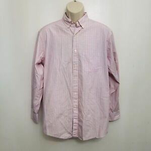 Brooks-Brothers-Mens-Dress-Shirt-15-5-33-Red-Stripe-Button-Down-Cotton-Regular