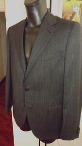 Caruso-Parma-Sartoriale-Handgefertigt-Wolle-54-1080-00-Flanell-Grau-Streifen