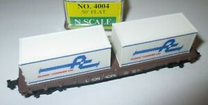 Model-Power-4004-Wagon-de-Containeur-50-039-Plat-Union-Pacific-gt-Neuf-et-Emballe