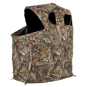 Ameristep 1 Person Deluxe Folding Hunting Camouflage Tent Chair Blind (Open Box)