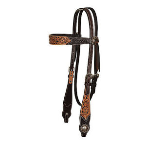 Circle-Y-Floral-Painted-Inlay-Browband-Headstall