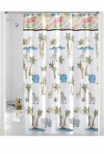 Image Is Loading Saturday Knight Shower Curtain Safari Fabric Animal Kids