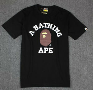 BAPE-Ape-Head-Printing-Basic-Tee-Summer-A-Bathing-Ape-Men-Short-Sleeve-T-shirt
