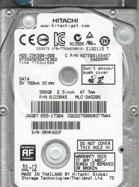 HGST Z5K500-500 HTS545050A7E362 500GB 5400RPM SATA Laptop HDD For Apple Macbook