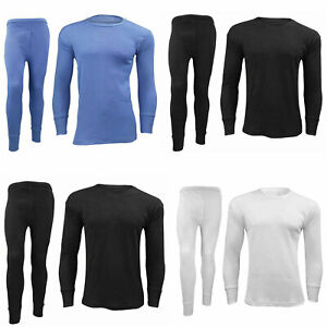 Mens-Full-Set-Thermal-Underwear-Winter-Workout-Long-Johns-Long-Sleeve-Top-Shirt