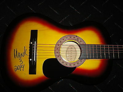HANK WILLIAMS III SIGNED FULL SIZE ACOUSTIC GUITAR AUTOGRAPHED HANK 3 COA! PROOF