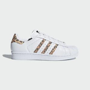 edbb50b02d1c0 Details about New Adidas Women's Originals Superstar Shoes (CQ2514) White  // Tiger Print