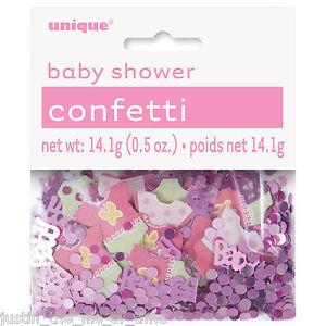 Decoracion Mesa De Baby Shower Nina.Detalles De Baby Shower Nina Fiesta Decoracion Mesa Confeti De Papel De Aluminio Ver Titulo Original