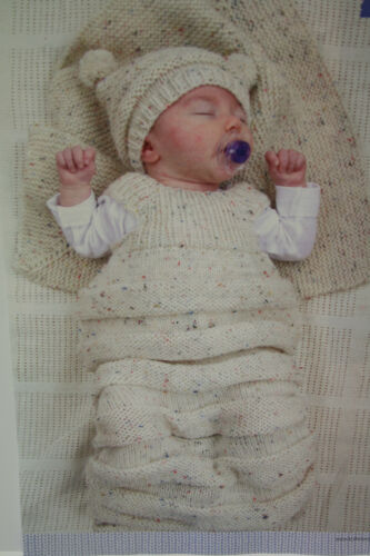 Hat and Blanket Knitting Pattern Baby All-in-one Sleeping Bag