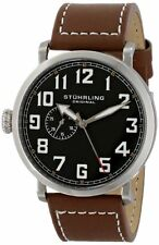 "Stuhrling Men's 721 01 ""Octane Monterey"" SS Left-Handed Leather Watch"