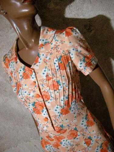 1970 vtg Abito 36 38 anni Dress chic True vintage Kleid 70er Abito anni Abito Vestido 70 qwXtAF4