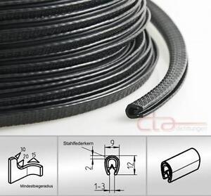 5 M Kantenschutz Kantenschutzprofil Dichtprofil KB 1-3mm PVC schwarz 1c10-10