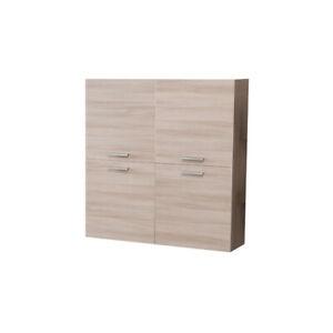 Dettagli su Pensile mobile moderno da soggiorno a parete salotto con 4 ante  olmo 120x120