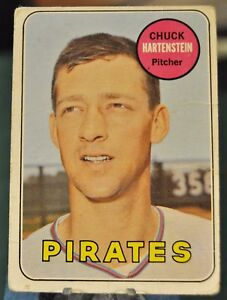 1969-Topps-Baseball-Card-596-Pirates-Chuck-Hartenstein-EX