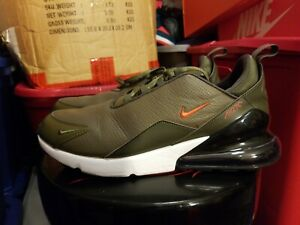 Details about Mens Nike Air Max 270 Premium Leather Olive Athletic SIZE 12 BQ6171 200