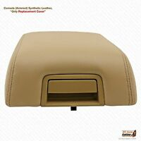 2005 Ford F150 Lariat Armrest Console Lid Leather Synthetic Cover Color Tan