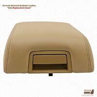 04-08 F150 Lariat Bucket Seat Sentatic Leather Armrest Center Console Cover Tan