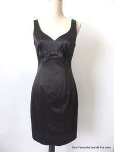 NEW-REVIEW-rrp-289-95-Women-039-s-Dress-Black-Sleeveless-Sheath-Size-10-US-6