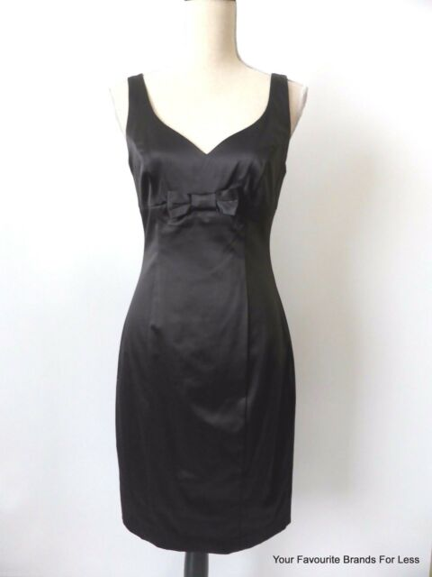 NEW - REVIEW rrp $289.95 Women's Dress Black Sleeveless Sheath Size 10  US 6
