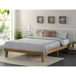 Zinus Alexia 12 Quot Wood Platform Bed Rustic Pine Finish Ebay