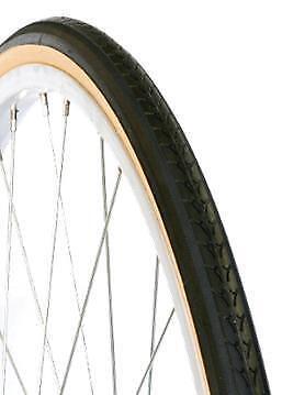 "2X Pair DURO 27 x 1 1//4 Bicycle Bike Tyre Gum Wall Retro Vintage 4311 27/"""