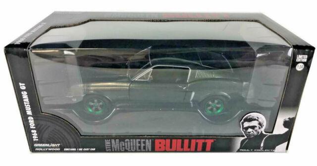 Ford Mustang GT 1968 grün Bullitt Steve McQueen Modellauto 1:24 Greenlight