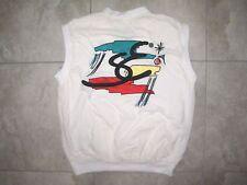 Vintage ADIDAS STEFAN EDBERG Tennis Trefoil Sleeveless Vest SHirt USED MEDIUM M