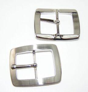 1 Gürtelschnalle Schließe Farbe Silber 3,8cm Rostfrei 08.167/844 Lederbearbeitung Gürtelschnallen