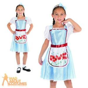 f63af75779e Details about Kids Dorothy Costume Fairy Tale Girls Book Week Day Fancy  Dress Child Outfit