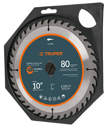 TRUPER ST-1080E Circular saw for wood 10 ', 80 teeth, center 1'