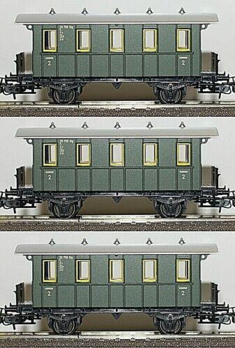 Märklin Neu H0//1:87 Set Mit Drei Wagen Der 3.Kl -Deutsche Bahn//Reichsbahn