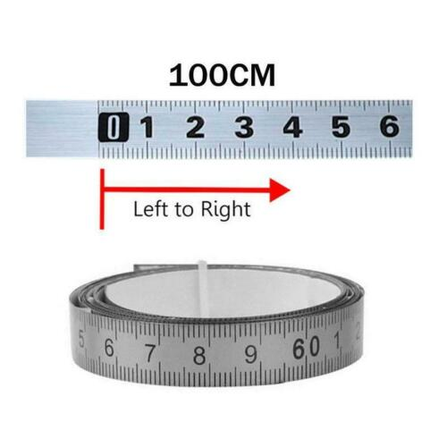 Stainless Steel Miter Track Tape Measure Self Adhesive Metric Scale Ruler 300cm