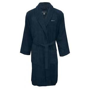 21d993bd5a Image is loading Gant-Terry-Towelling-Men-039-s-Bathrobe-Navy