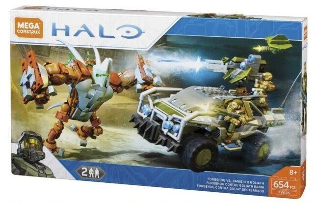 HALO Forgehog vs Banished Goliath (FVK36) 654 pcs by MEGA CONSTRUX RARE! LQQK!