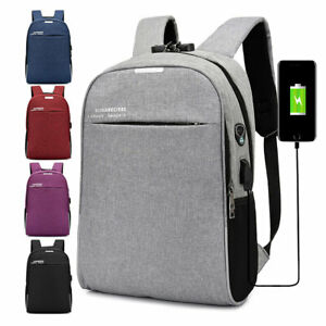795eb0b2aef9 Details about Men USB Smart Backpack Anti-Theft Bag Business Laptop Travel  Pack Schoolbag New