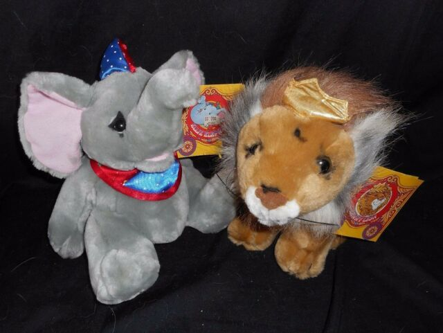 Vintage Circus On Parade Ellie Elephant Lenny Lion Stuffed Animal