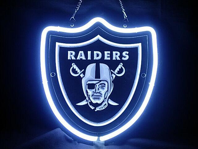 "Oakland Raiders 3D Neon Sign Beer Bar Gift 14\""x10\"" Light"