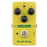 Aural Dream Breath Delay Electric Guitar Effect Pedal Delay True Bypass New WF4V