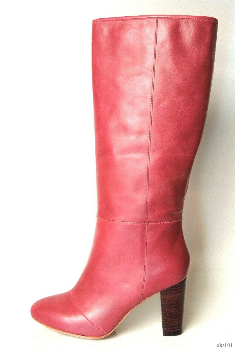 New CANDELA 'Camilla' burgundy red plum leather tall knee-high Boots Boots Boots 10 gorgeous eeb37c