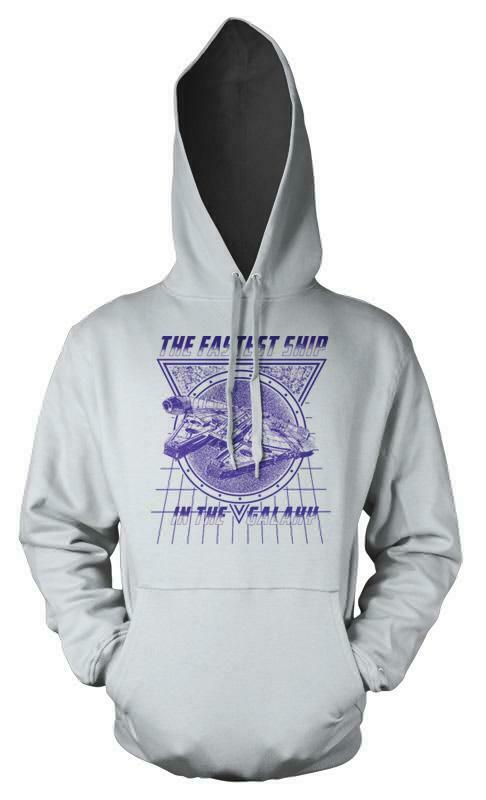 The Fastest Ship In The Galaxy Millennium Falcon Adult Hoodie