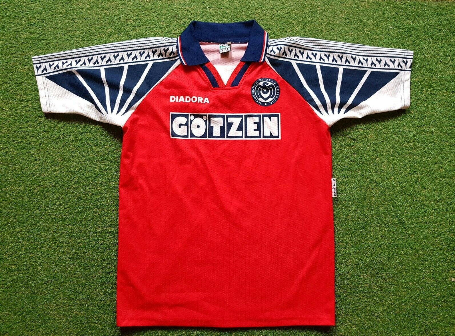 Msv Duisburg Trikot XL 1994 1995 Diadora Calcio Shirt Football Soccer Jersey